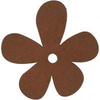 Blume, Größe 57x51 mm, Braun, 10 Stk/ 1 Pck