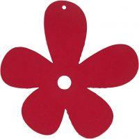 Blume, Größe 57x51 mm, Dunkelpink, 10 Stk/ 1 Pck