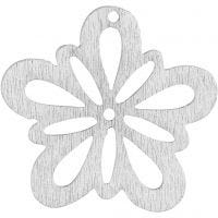 Blume, D: 27 mm, Weiß, 20 Stk/ 1 Pck