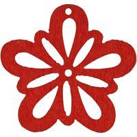 Blume, D: 27 mm, Dicke 1,7 mm, Rot, 20 Stk/ 1 Pck