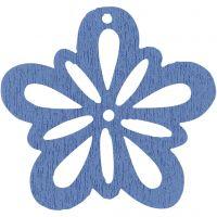 Blume, D: 27 mm, Hellblau, 20 Stk/ 1 Pck