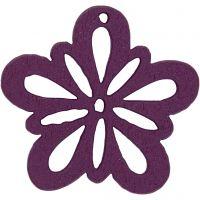 Blume, D: 27 mm, Dunkellila, 20 Stk/ 1 Pck