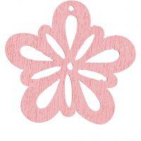 Blume, D: 27 mm, Dicke 1,7 mm, Rosa, 20 Stk/ 1 Pck