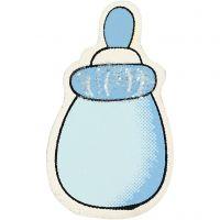 Milchflasche, Größe 22x37 mm, Dicke 1,7 mm, Hellblau, 10 Stk/ 1 Pck