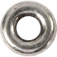 Gliedperle, D: 9 mm, Lochgröße 4 mm, Antiksilber, 15 Stk/ 1 Pck