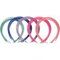 Haarreifen, B: 8 mm, Sortierte Farben, 20 Stk/ 1 Pck