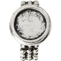 Cabochon-Ring, D: 19 mm, Lochgröße 14 mm, Antiksilber, 1 Stk