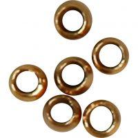 Quetschperlen, D: 2 mm, Vergoldet, 1000 Stk/ 1 Pck