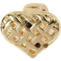 Herz, Größe 13x11 mm, Vergoldet, 1 Stk