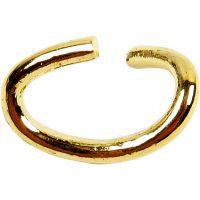 Biegering oval, Dicke 0,7 mm, Vergoldet, 50 Stk/ 1 Pck