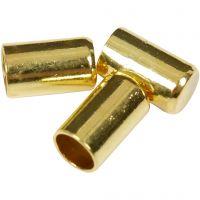 Endkappen, D: 2,5 mm, Vergoldet, 50 Stk/ 1 Pck