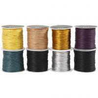 Baumwollkordel - Sortiment, Dicke 1 mm, Sortierte Farben, 8x40 m/ 1 Pck