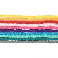 Tonperlen, D: 5-6 mm, Lochgröße 2 mm, Sortierte Farben, 10x145 Stk/ 1 Pck