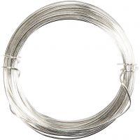Silberdraht, Dicke 0,8 mm, Versilbert, 6 m/ 1 Rolle