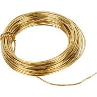 Messingdraht, Dicke 1,2 mm, 100 g, Messing, 10 m/ 1 Rolle
