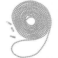 Kugelkette, D: 1,5 mm, Versilbert, 1 m