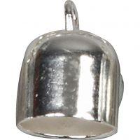 Endkappen, D: 8 mm, Versilbert, 50 Stk/ 1 Pck