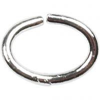 Biegering oval, Dicke 1 mm, Versilbert, 40 Stk/ 1 Pck