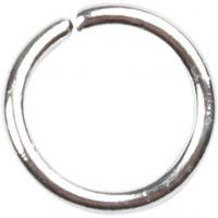 Biegering, Größe 5,4 mm, Dicke 0,7 mm, Versilbert, 500 Stk/ 1 Pck