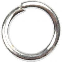 Biegering, Größe 4,4 mm, Dicke 0,7 mm, Versilbert, 500 Stk/ 1 Pck