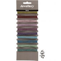 Farbige Perlenkette, D: 1,5 mm, Sortierte Farben, 10x80 cm/ 1 Pck