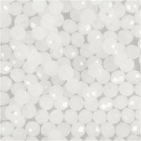 Glasschliffperlen, Größe 3x4 mm, Lochgröße 0,8 mm, Kristall mattiert, 100 Stk/ 1 Pck