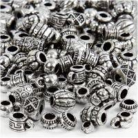 Kunststoffperlen, Mix, Größe 7-11 mm, Lochgröße 3 mm, 25 g/ 1 Pck