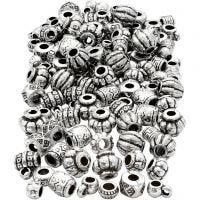 Kunststoffperlen, Mix, Größe 7-11 mm, Lochgröße 3 mm, 200 g/ 1 Pck