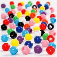 Pony-Perlen, D: 6 mm, Lochgröße 3 mm, 125 ml/ 1 Pck, 75 g