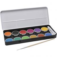 PRIMO Wasserfarben, D: 30 mm, Sortierte Farben, 12 Stk/ 1 Pck