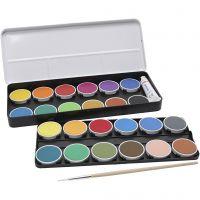 PRIMO Wasserfarben, D: 30 mm, Sortierte Farben, 2x12 Stk/ 1 Pck