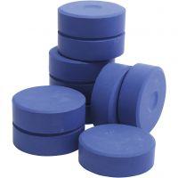 Tempera Farbblöcke, H: 19 mm, D: 57 mm, Blau, 10 Stk/ 1 Pck