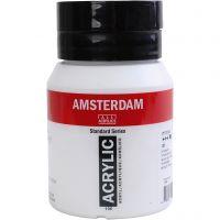 Amsterdam Acrylfarbe, Deckend, Titanum-Weiß, 500 ml/ 1 Fl.
