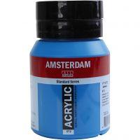Amsterdam Acrylfarbe, Halbtransparent, Primary cyan, 500 ml/ 1 Fl.