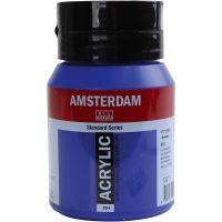 Amsterdam Acrylfarbe, Transparent, Ultramarinblau, 500 ml/ 1 Fl.