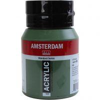 Amsterdam Acrylfarbe, Deckend, Olive green deep, 500 ml/ 1 Fl.