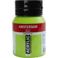 Amsterdam Acrylfarbe, Halbdeckend, Yellow green, 500 ml/ 1 Fl.