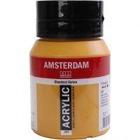 Amsterdam Acrylfarbe, Deckend, Ockergelb, 500 ml/ 1 Fl.