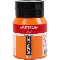Amsterdam Acrylfarbe, Halbdeckend, Azo-Orange (276), 500 ml/ 1 Fl.