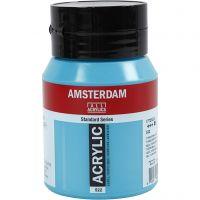 Amsterdam Acrylfarbe, Deckend, Tuerkisblau (522), 500 ml/ 1 Fl.