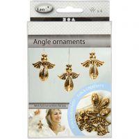 Engel zum Zusammensetzen, H: 5,5 cm, B: 4,5 cm, Gold, 4 Stk/ 1 Pck
