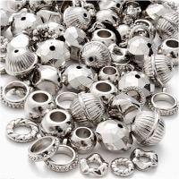 Silbermix, Größe 5-20 mm, Lochgröße 2-6 mm, 155 g/ 1 Pck