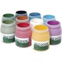 Outdoor-Farbe, Sortierte Farben, 10x250 ml/ 1 Pck