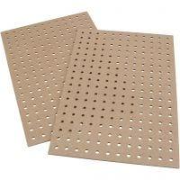 Lochplatten, Größe 20x30x0,5 cm, 12 Stk/ 1 Pck