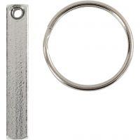 Schlüsselanhänger-Set, Größe 40x5 mm, 6 Stk/ 1 Pck