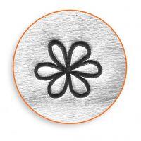 Prägestempel, Blume, L: 65 mm, Größe 6 mm, 1 Stk