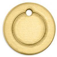 Metall-Ring, Rund, D: 13 mm, Lochgröße 1,85 mm, Dicke 1 mm, Messing, 11 Stk/ 1 Pck