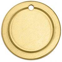 Metall-Ring, Rund, D: 20 mm, Lochgröße 1,85 mm, Dicke 1 mm, Messing, 6 Stk/ 1 Pck