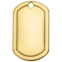 Metall-Ring, Ovales Rechteck, Größe 32x20 mm, Lochgröße 2,85 mm, Dicke 1 mm, Messing, 4 Stk/ 1 Pck
