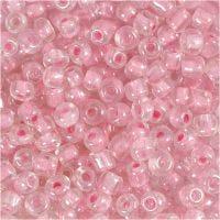Rocaille Seed Beads, D: 4 mm, Größe 6/0 , Lochgröße 0,9-1,2 mm, Rosa, 500 g/ 1 Pck
